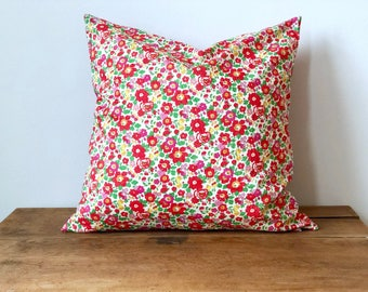 "Pillow Cover with Liberty of London Fabric 16"" x 16"""