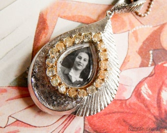 Upcycled watch necklace / repurposed watch necklace / repurposed necklace / watch necklace / vintage watch / vintage photograph