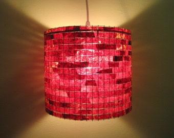 Shipping Worldwide - Lighting Chandelier Red Pendant Light Hanging Handmade Lampada Coffee Filter Art