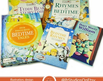Ladybird Book Bedtime Reading Gift Set, Bedtime Rhymes, Teddy Bear Story Time, Storybooks, Poems