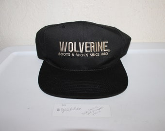 Vintage 90's Wolverines Boots & Shoes Snapback Hat