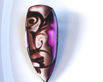 Fimo pendant: autumn light and shadow