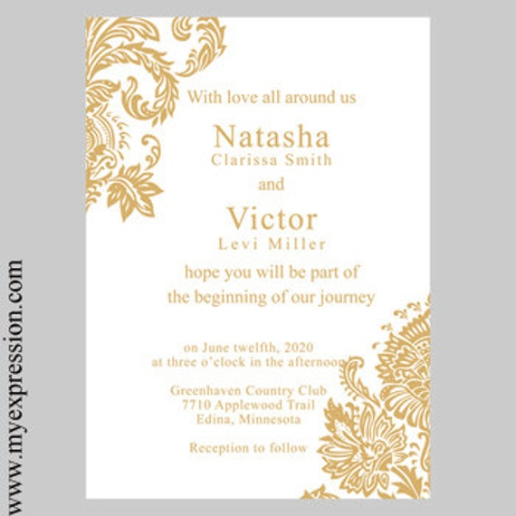 gold invitation template koni polycode co
