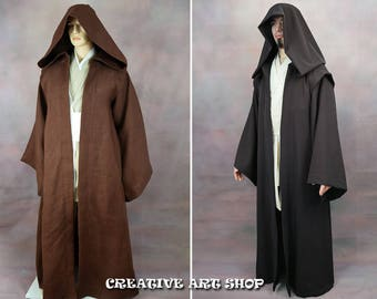 Traditional Jedi or Sith Robe with Hood