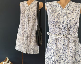 Vintage Blue and white floral dress