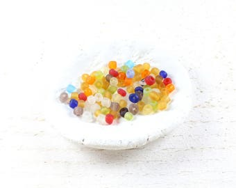 260 beads multicolor frosted - frosted +/-4 to 5mm LBP00596