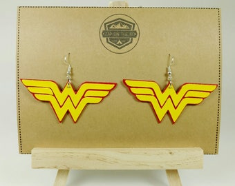 Wonder Woman Earrings | DC Comics | Justice League | Superhero Jewelry | Geeky Gifts for Her | Diana Prince | Wonder Woman Jewelry