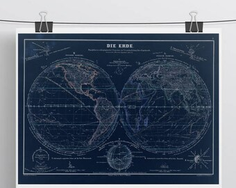 Vintage world map etsy vintage world map gumiabroncs Gallery