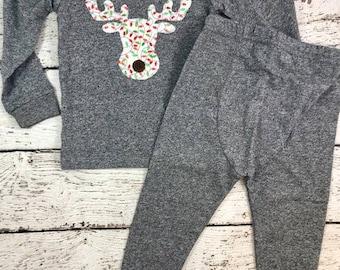 Moose Pajamas, Family Christmas Pajamas, Custom Christmas Pajamas, Holiday Pajamas, Christmas pj for family, infant Christmas pajamas