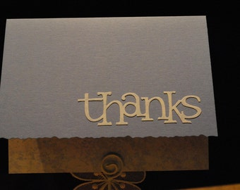 Blue thank you cards - set of four