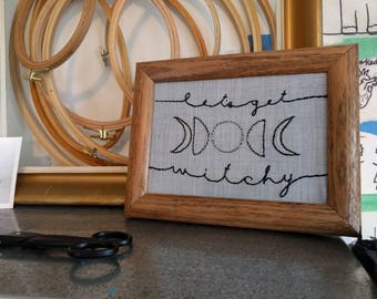 Get Witchy - Framed Embroidery Art