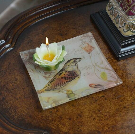 Bird Plate Candle Holder