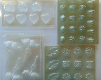 11 Candy or Handmade Soap Molds by Sun Hill Ind., Stamford, CT