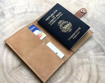 Passport case with Business card drawer-Nature