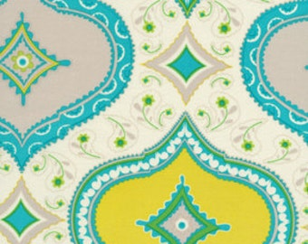 1 yard of Blue Kumari Garden Medallion by Dena Designs
