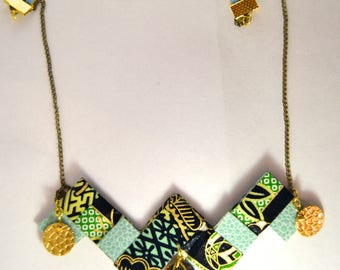 Origami Safari Japanese skin necklace.