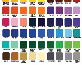 """12""""X24"""" - ORACAL 651 - glossy Vinyl, Crafts,  Hobby Cutter, Cricut, Silhouette Cameo, Adhesive outdoor Vinyl, Vinyl Sheets - Decal - Sticker"""