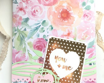 Wedding Bridal Love scrapbook photo album planner Baby Girl book mini album