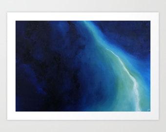 Abstract Art Print, Blue Abstract Art, Oil Panting, Professional Giclee Print, Home Decor, Wall Decor, Art Print, Wall Art