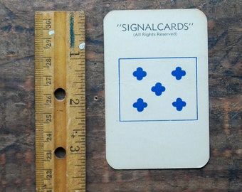 "Vintage Signal Card, WWII Era, Navy International Code Flag "" Zero 0 """