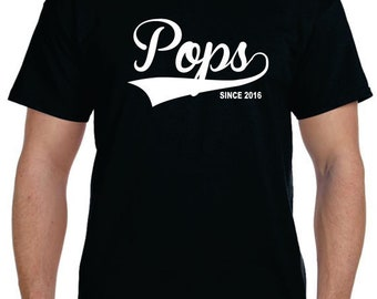 Fathers Day Gift Grandfather Gift Grandpa Gifts Pops Shirt Gifts For Dad Pops Since (Any Date) Personalized Fathers Day T shirt