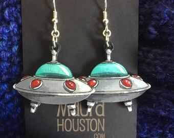 Flying Saucer Earrings
