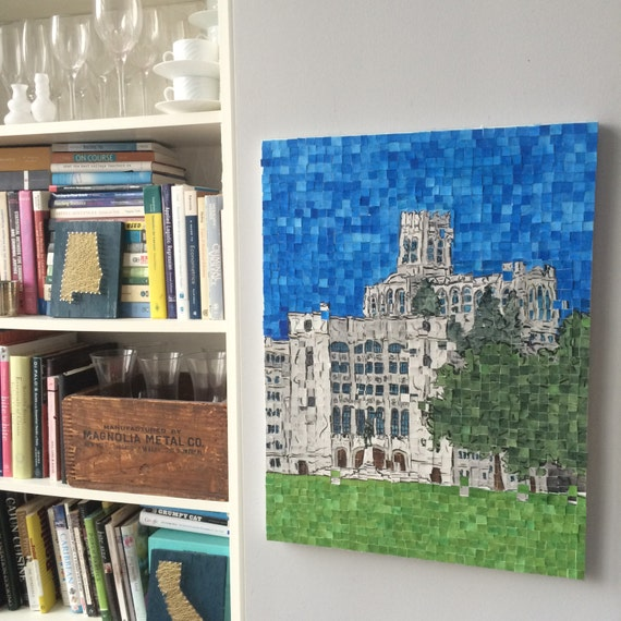 "West Point - USMA - Architectural Art: Original Painting 18""x24"""