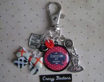 Beautician key chain