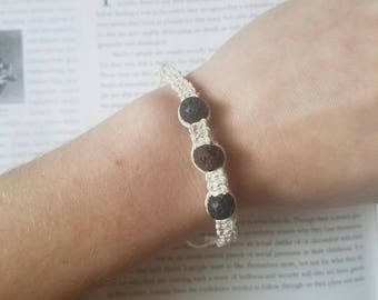 Macrame Essential Oil Diffuser Bracelet