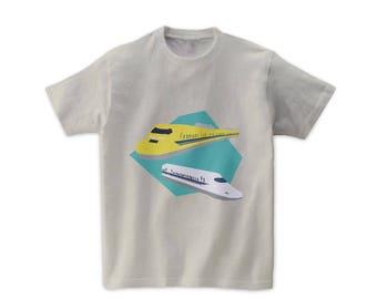 "Graphic Tshirts ""Shinkansen & Dr.Yellow in Japan"""