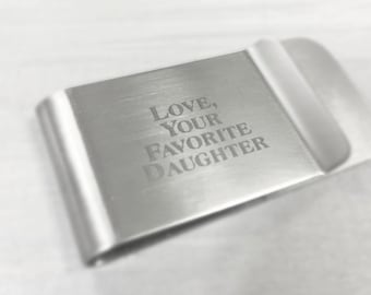 Custom Money Clip, Personalized Money Clip, Engraved Money Clip, Monogrammed Money Clip, Gift for Him, Gift For Dad, Father's Day Present