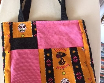Snoopy & Sugar Skull quilt style bag