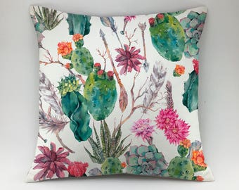 Succulent pillow cover Floral pillow Botanical pillow flower cushion cover Throw pillow cactus pillow case accent pillow leaf pillow aloe