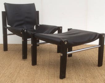 ARKANA Chair and Stool designed by Maurice Burke 1970,s