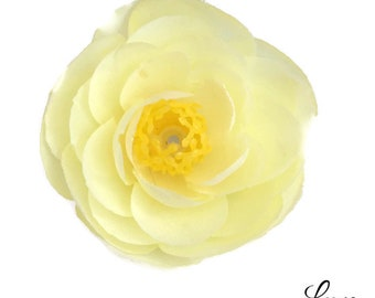 Petite 2 inch Yellow Ranunculus Artificial Flowers - Baby Maize - Spring and Summer - Artificial Flowers for Baby Headbands
