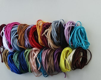 Soutache cord SET for jewelry making (23 assorted colors x 2 meter), Soutache braid, Soutache trim, Jewelry flat cord, Craft supplies