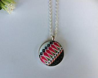 Handmade Fabric Button Necklace