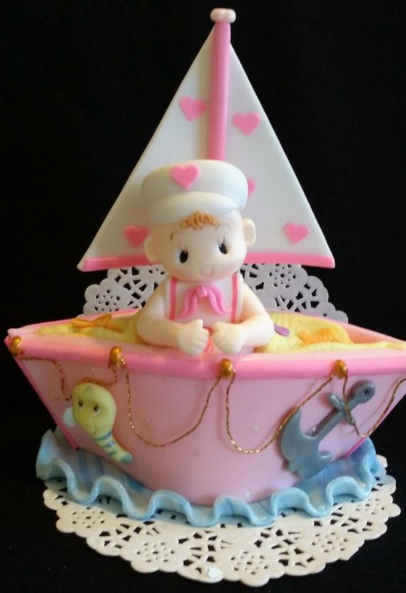 Nautical Cake Topper Sailor Cake Topper Nautical Party