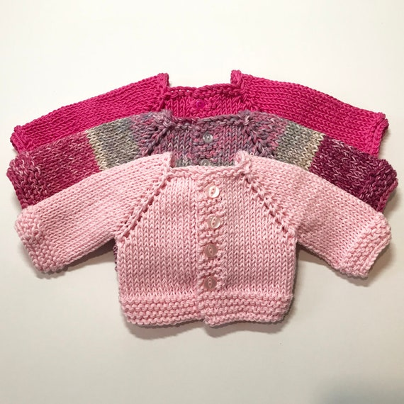 "Hand-Made Cotton Raglan-sleeved Sweaters for American Girl and Other 18"" Dolls"