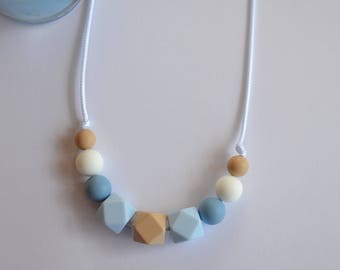 Silicone Beaded Geometric Necklace