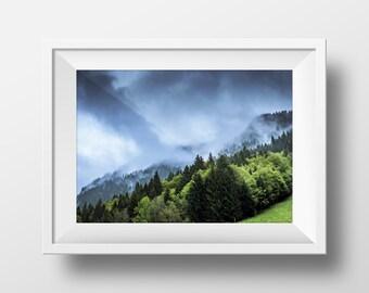 Mountain Print, Nature Print, Nature Art, Nature Photography, Mountain Art, Wall Art, Nature Photography, Art Print, Instant Download Art