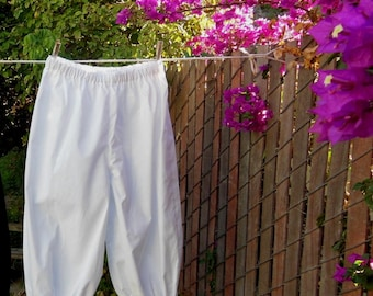 Womens WHITE 2X Basic Bloomers Frugal Frills Cotton Ready Now!