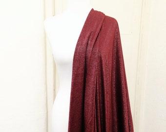 Swimwear Fabric // Burghundy + Lurex Vintage Style