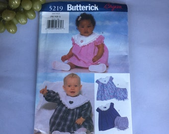 2573 Butterick 5219 Preemie Infant dress pattern  uncut