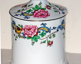 Crown Staffordshire Chelsea Manor Pattern Covered Sugar Bowl