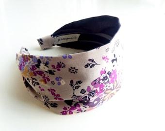 Headbands for Women - fabric headbands adult headband cotton hairband woman Flower Hairband - Wide Comfy No Slip rock n romance femme metale
