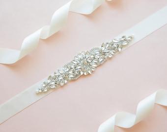Bridal belt - wedding belt - bridal sash - wedding sash - rhinestone sash - crystal sash - rhinestone bridal belt - bridal sashes and belts