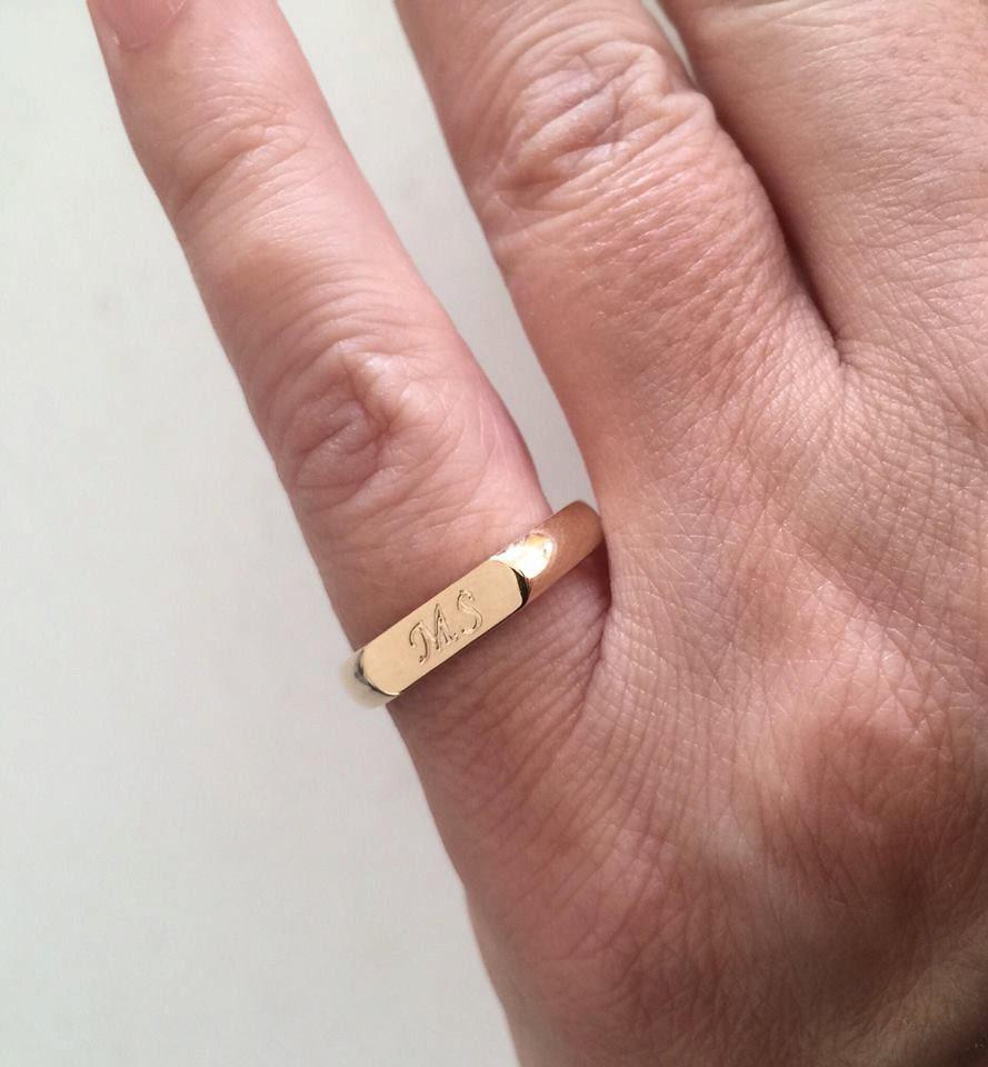 Engraved ring Personalized Ring men / women ring Initial
