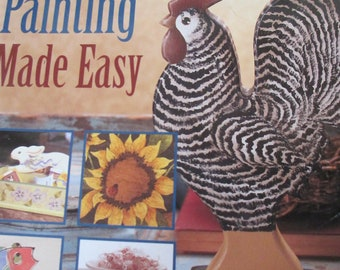 """Plaid Folk Art Decorative book """"Decorative Painting Made Easy """" by various artists 129 pages 2006 used book"""