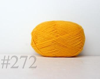 WOOL yarn 100%-knitting yarn - bright yellow #272